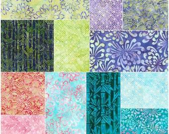 "SQ05 Robert Kaufman ASIAN LEGACY BATIKS Precut 5"" Charm Pack Fabric Quilting Cotton Squares chs-457-42"