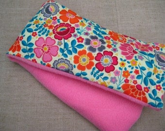 Therapy Rice Bag, Microwave Heat Pack, Rice Heating Pack, Therapy Sack, Bright Flowers , Washable Cover,