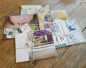 handmade Card and Envelope set - recycled Somerset publications pages