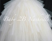 Bridal Skirt Ruffled Skir...