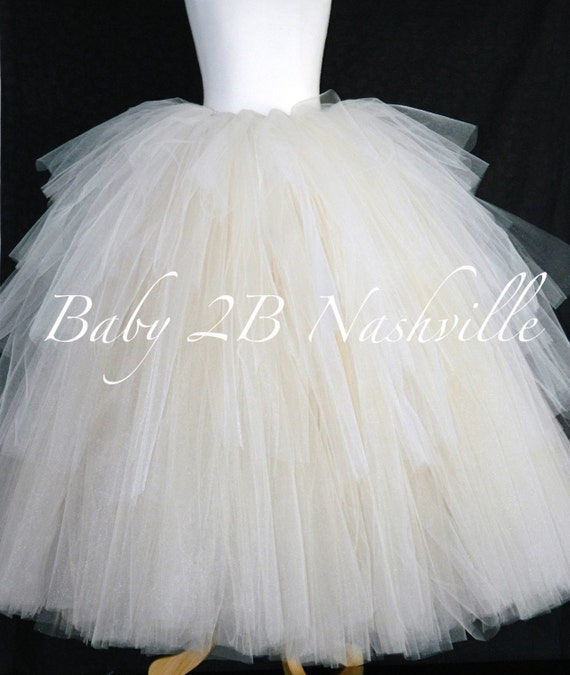 Bridal Skirt Ruffled Skirt Ombre Skirt Wedding Dress Skirt Ivory Skirt Tulle Skirt Nude Skirt Warm Cream Skirt Bridal Tutu Layered Tutu