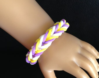 "Fishtail Rubber Band Doll Bracelet ~ Fits 18"" Dolls(American Girl, Our Generation, etc)"