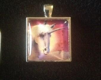 C14  Unicorn Charm Pendant Necklace