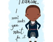 Hamilton Aaron Burr Valentine's Day card Broadway