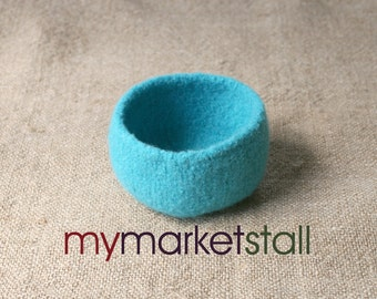 Blue Hawaii Felted Bowl - Ready to Ship