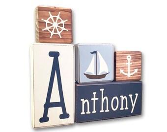 Nautical Nursery - personalized - nautical - wood sign