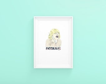 Drew Barrymore as Casey from Scream Art Print