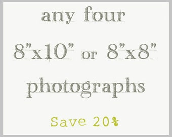Photography Print Set 8x10 or 8x8 - four photographs
