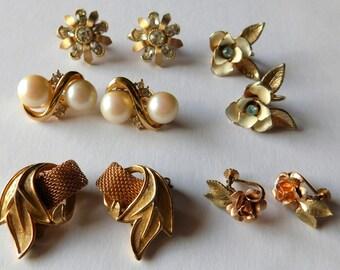 Vintage Designer Earrings Krementz Judy Lee Richelieu Coro Crown Trifari