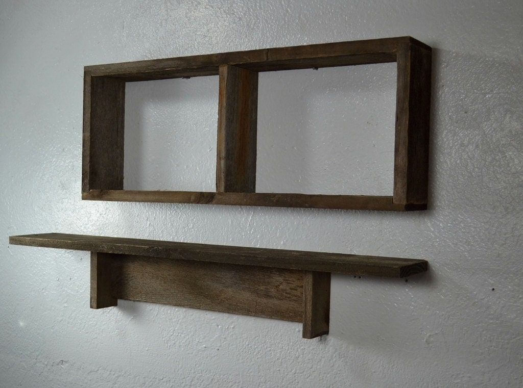 shelves from reclaimed wood shadow box and shelf set great. Black Bedroom Furniture Sets. Home Design Ideas