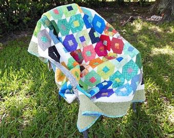 Flutterby Handmade Cotton Quilt - OOAK