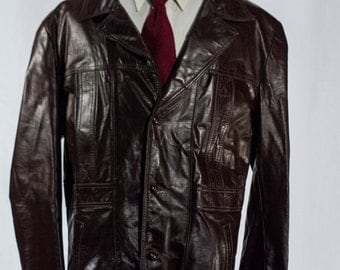 Men's Size 50 / Large /   Vintage Leather Jacket #2204