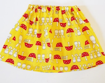 Girl's Bunny Rabbit Skirt / Easter Clothing / Children's / Kids / Baby Clothes - Yellow