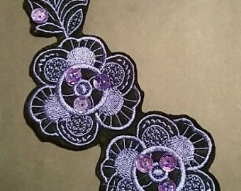 Beautiful Sequinned Embroidered  Iron/Glue/Sew On Patch