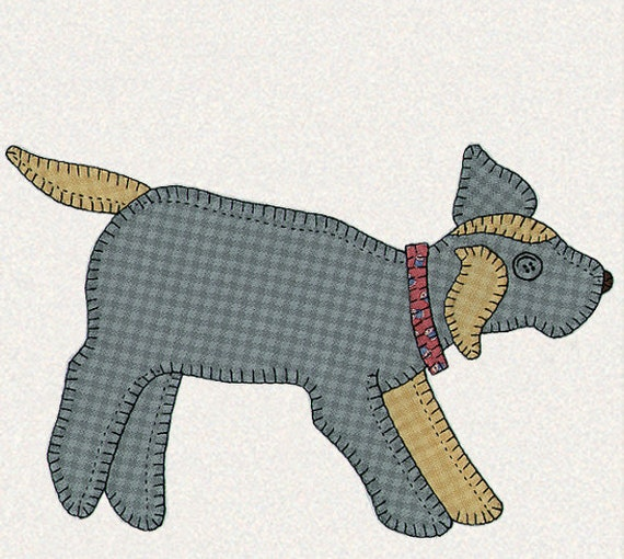 Gingham Dog And Calico Cat Quilt Pattern