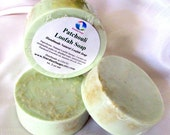 Patchouli Loofah Soap (Handmade, Luxurious, moisturizing, exfoliating soap, Large Bar, gift idea) Stardust Soaps