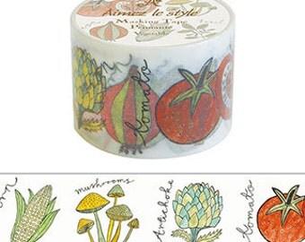 Vegetable Japanese Washi Tape • Aimez le style Washi Tape (02334)