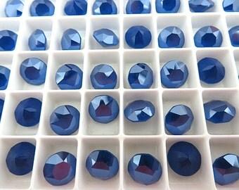 12 Royal Blue Unfoiled Swarovski Crystal Chaton Stone 1088 39ss 8mm