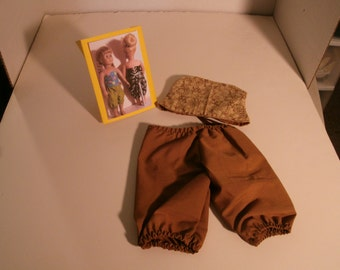 """Caramel and tan bustier and bloomers set for 18"""" dolls"""