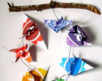 Chakra Symbols origami paper art string