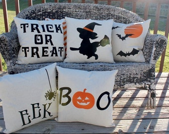 Set of 4 Halloween Pillows Covers