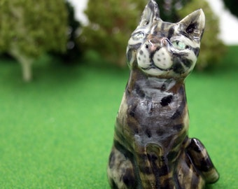 cat figurine - Artemis the Eternal - Original porcelain sculpture