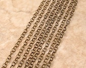 Round Cable Chain 4 mm, Soldered, Antique Brass, Brass Ox, 6 Ft. AB147