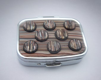Brown Dotted Pill Box