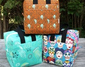 Insulated Lunch Bag Lunch Box Cooler Square Custom Pick Your Own Fabric