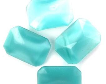 35% off Sale Vintage Glass Stones Pointed Back Octagon 18x13mm Moonstone Aqua (4) VGC428