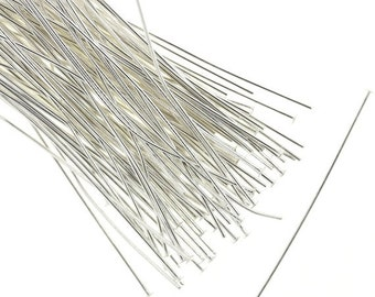 50% Off Sale Head Pins Silver Plated 2 Inch 22 Gauge (100) FI834