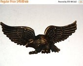 HUGE SALE Cast Iron Metal USA Eagle Embellishment American Eagle Americana Eagle Token Shadow Box Size Bald Eagle miniature collectible for