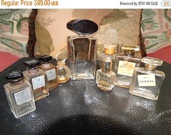 ON SALE Paris France Perfume Bottles Lanvin, Chanel, Molyneux, Rochas 9, French Bottles, Elan Coty