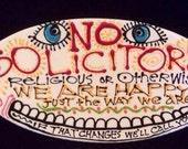 No Solicitors Ceramic Sign