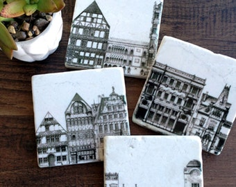 On Your Street - stone coasters (set of 4)