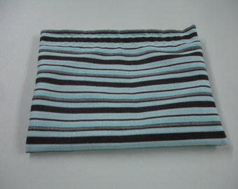 Blue and Brown Stripes Snack Bag Ready to Ship