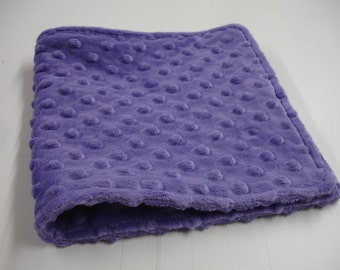 Jewel Dark Lavender Double Sided Burp Cloth 8 x 17 READY TO SHIP