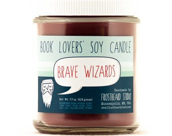 Brave Wizards - Book Lovers' Scented Soy Candle - 8oz Jar