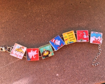 Dr Seuss ALL your favorites.. on one bracelet..- Perfect for  Teacher Gifts. FREE US shipping