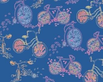 Bicycles Art Print - Digital Illustration Bikes & Autumn Leaves