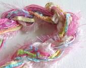 Fibers Pack - Dreamcatcher Supplies - Pocket Letter Supplies - Knitting Supplies - Crochet Yarns - Scarf Fringe - Altered Art Supplies-