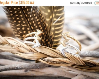 20% OFF Mothers Day Sale Silver + Gold In Fight Cuff | Nature Inspired | Stacking Cuff