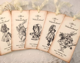 Alice in Wonderland Bookmarks Party Favors Assorted