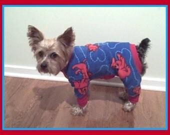 Dog Pajamas Clifford the Big Red Dog  Pajamas Fleece To Order and More You Choose