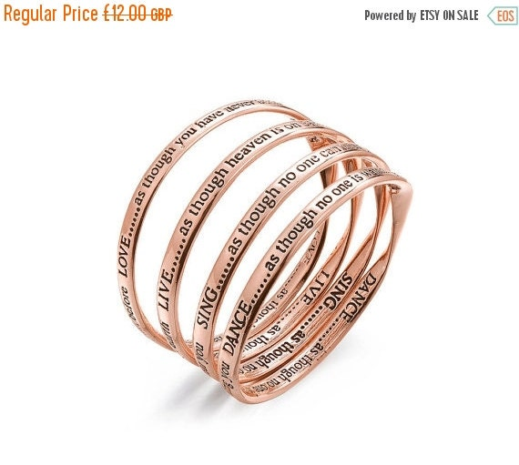 Rose Gold Love as Though you Have never been hurt Bangle. Stacking bangles