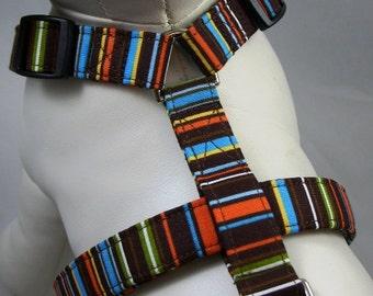 Dog Harness - Chocolate Stripes