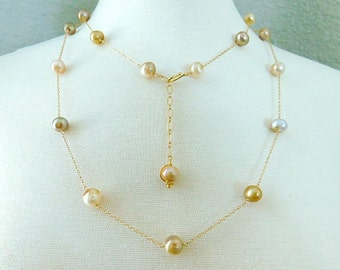 Pearl Necklace - Wedding Necklace - Long Necklace