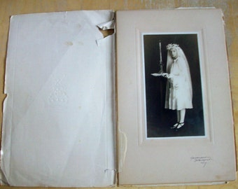 Vintage First Communion Girl  Photo 1920's or 30's