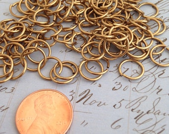 9mm Brass Ox Jump Rings Quality American Made Brass Base 100