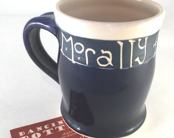 Morally Flexible Mug - Funny Office Gift - Phrase Mug - Silly Coffee Cup - Handmade Ceramic - Coffee Tea Gift -  Work Valentines Men's Gift
